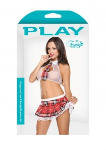 SCHOOL GIRL COSTUME RED M/L