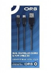 Dual controller charge & play cable 3M PS4 (Orb) (PS4)