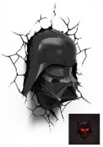 Darth Vader head 3D light FX