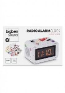 Radio clock white + stickers (AUDIO)
