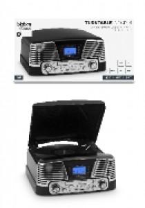 Retro platenspeler nostalgia zwart + cd & USB (AUDIO)